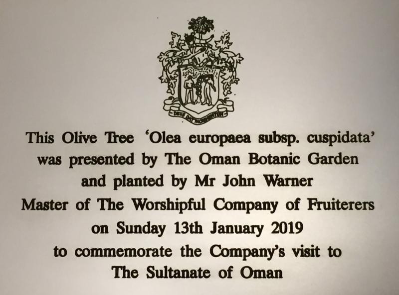 Fruiterers' visit to The Sultanate of Oman January 2019