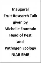 Fruit Research Talk 2021